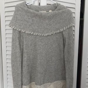 Anthropologie Gray Cowl neck Sweater